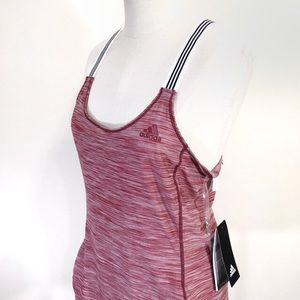 Adidas New Racer Back Tank Top Sz Small Red